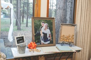 Creative wedding guest book idea