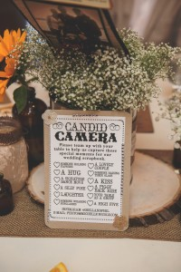 Wedding candid camera