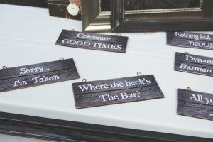Wedding photo booth signs